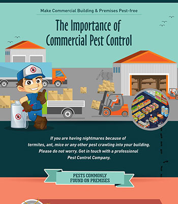 Most Common Pests found in Commercial Building & Premises